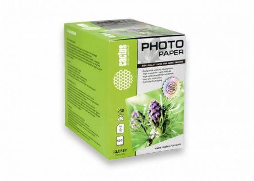 Фотобумага Cactus CS-GA6230500 глянцевая 10×15 230 г/м2 500 листов