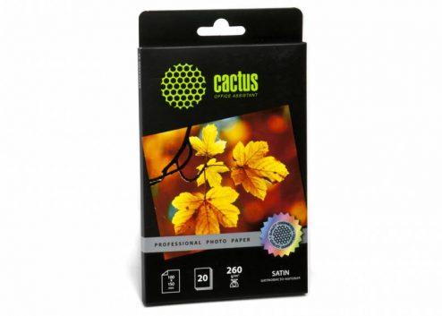Фотобумага Cactus CS-SMA626020 Professional шелковисто-матовая (сатин) 10×15 260 г/м2 20 листов