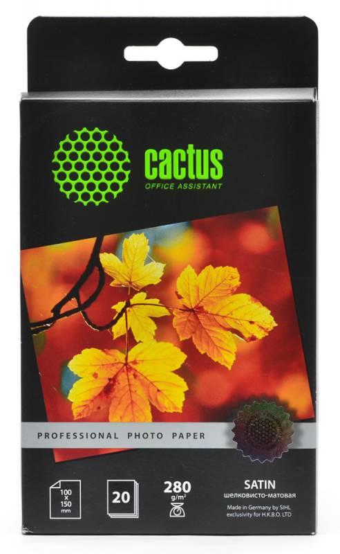 Фотобумага Cactus CS-SMA628020 Professional шелковисто-матовая (сатин) 10×15 280 г/м2 20 листов