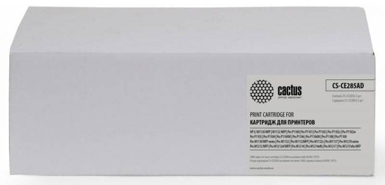 Тонер Картридж Cactus CS-CE285AD черный для HP LJ P1102/P1102W/M1130/M1132 (2*1600стр.)